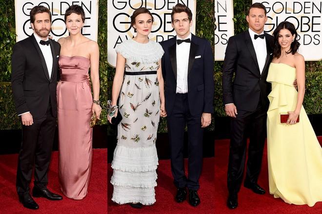 Os irmãos Jake Maggie Gyllenhaal, que não são um casal, mas acho eles lindos, mesmo não gostando muito do vestido dela; a gravidinha Keira Knightley e James Righton, ela disse que 30 pessoas fizeram seu Chanel que eu, particularmente detestei, essas borboletas, esses babados... Por fim, os lindos Channing Tatum e Jenna Dewan