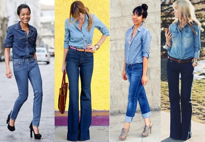 Combinações de camisa com calça jeans