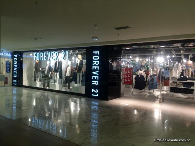 Fachada da Forever21 no Bossa Nova Mall do Rio de Janiro