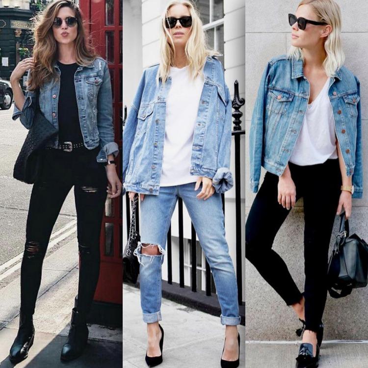 Jaqueta jeans com calça