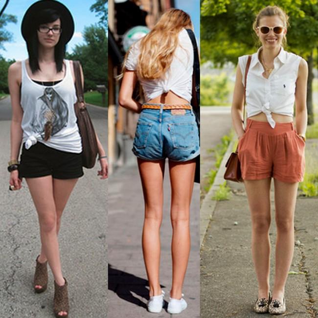 Blusa com nozinho e shorts