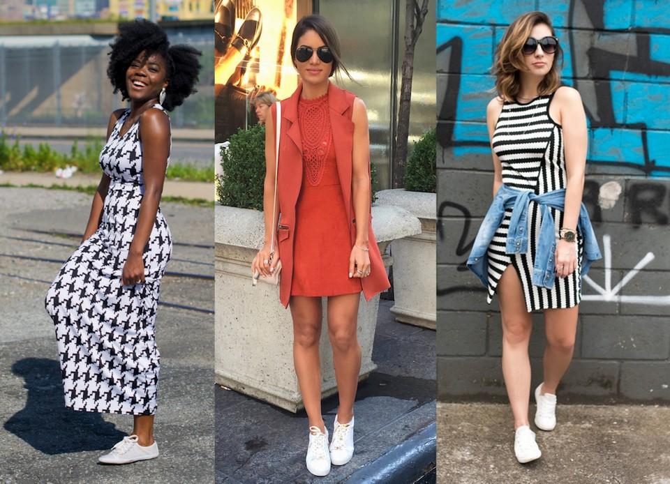 Blogueiras e influencers usam tênis branco