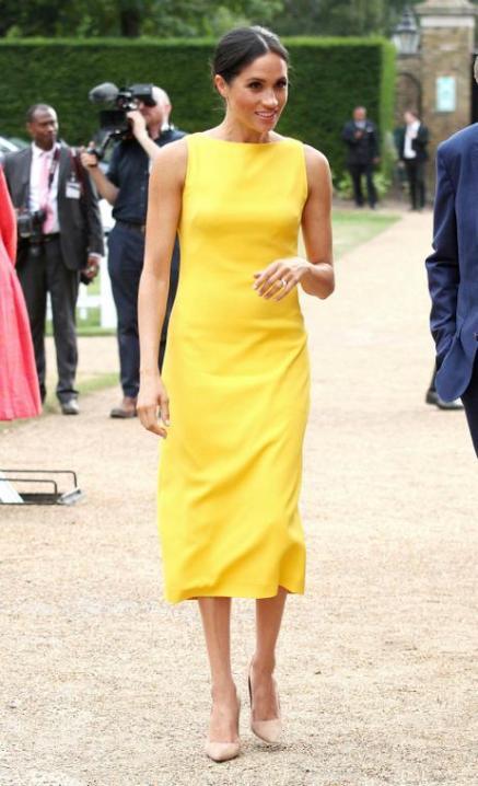 yellow pencil dress by Brandon Maxwell
