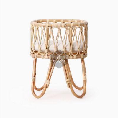 Masha-Doll-Bassinet-with-cushion-2 | Natural Rattan kid's Furniture