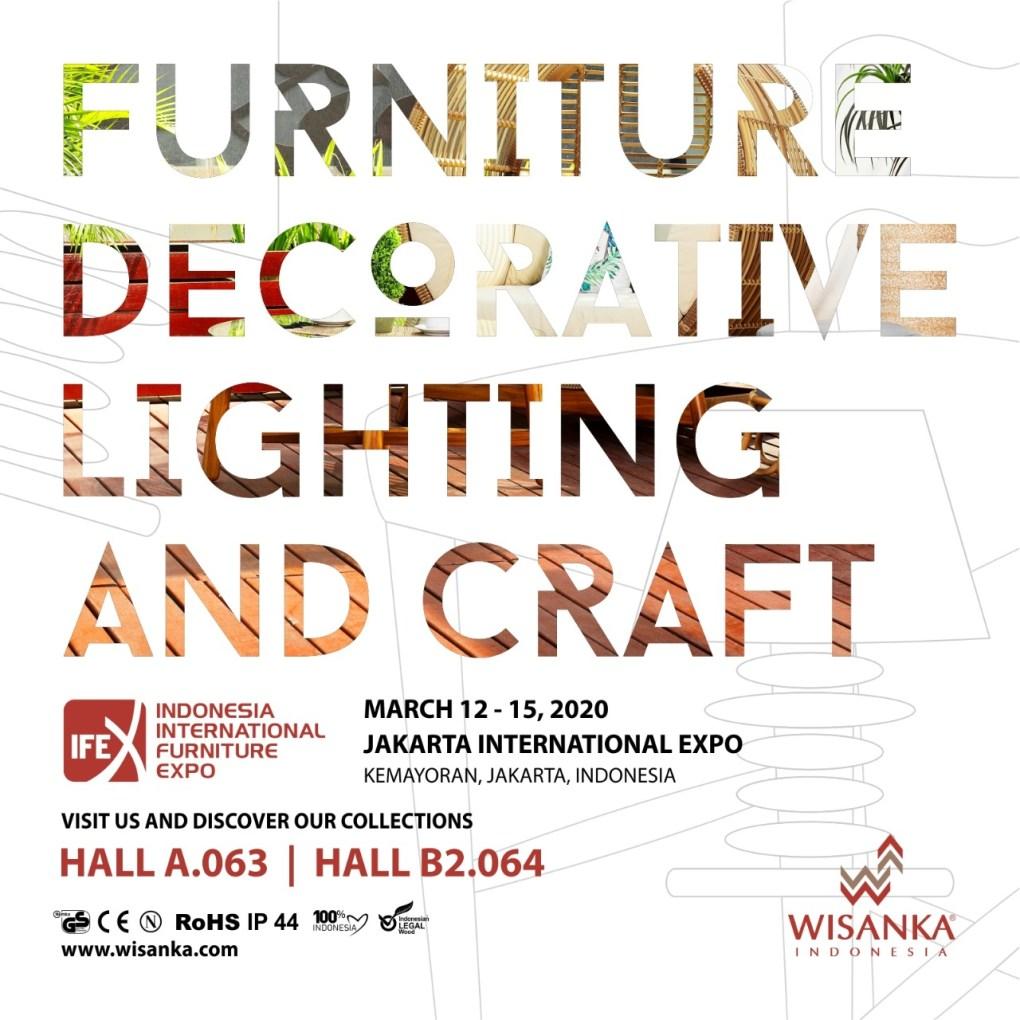 IFEX 2020 Invitation for wicker furniture