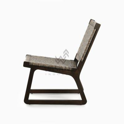 Muzu Lite Rattan Wooden Chair side