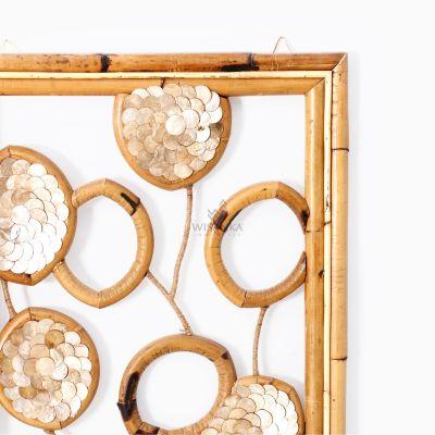 Belle Capiz Wall Decoration - Natural Rattan Furniture Detail