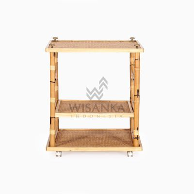 Doremi Natural Rattan Working Desk Table front