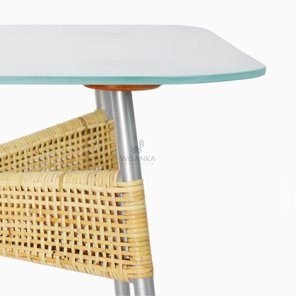 Kaira Dining Table - Natural Rattan Furniture detail 1
