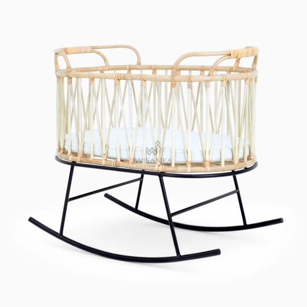 Kaitlin Baby Bassinet - Rattan Kids Furniture