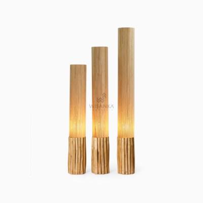 Karo Floor Lamp - Teak Standing Lamp for Living Room