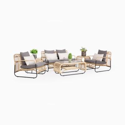 Akko Living Set - Wicker rattan Furniture