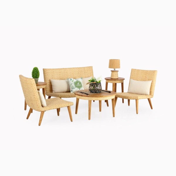 Kalila Living Set - Natural Rattan Wicker Furniture