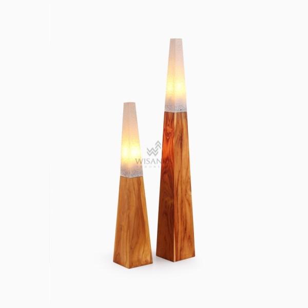 Piramida Floor Lamp with Pasta White Set of 2