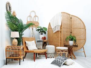 7 начини на украсување со Ратан за прекрасна природна текстура во секоја соба
