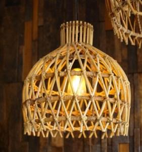 Ev Dekorasyon Fikirleri için Rattan Mobilya - Rattan Sarkıt ile Muhteşem Işık