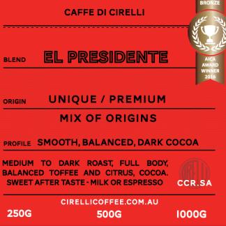 Cirelli Coffee El Presidente