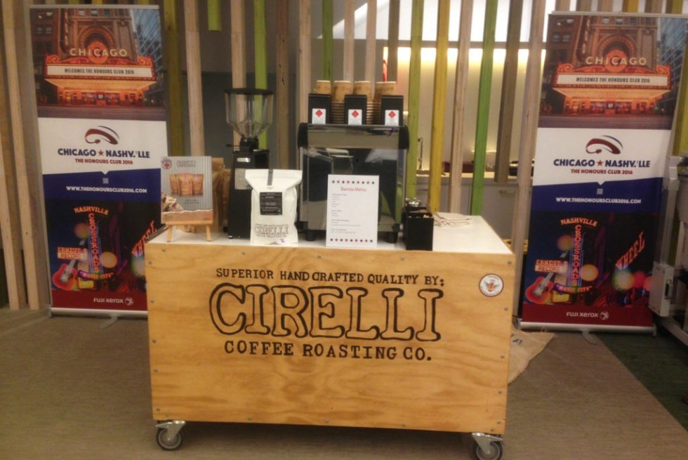 image of the timber coffee cart hire Adelaide