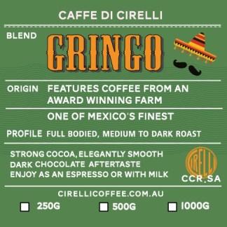 Gringo Coffee Blend Medium to Dark Roasted Coffee