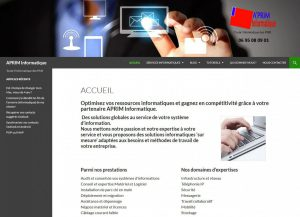Aprim Informatique site web
