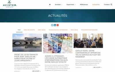 Stratégie digitale et site web d'AVISTEM Avocats