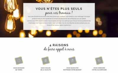 Stratégie digitale et contenu du site web Côté Travaux