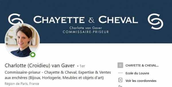 Bannière Linkedin de Charlotte Van Gaver - Chayette & Cheval