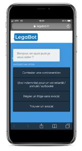 LegaBot chatbot juridique