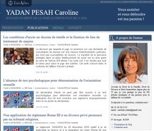 Blog Legavox de Caroline Yadan Pesah, avocate en droit de la famille