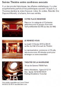 Les Avocats au théâtre : Eric Dupond-Moretti à la barre 2