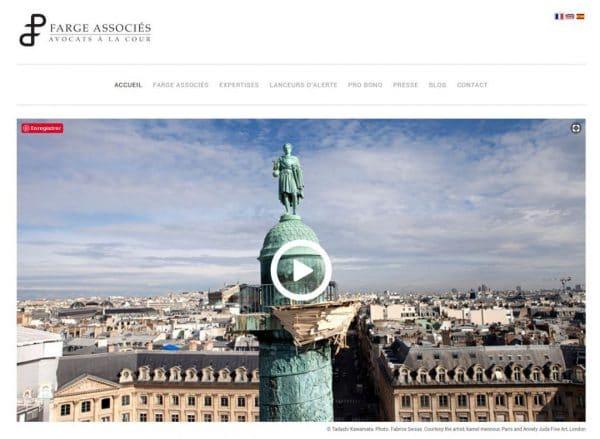 Site web de Farge Associes avocats