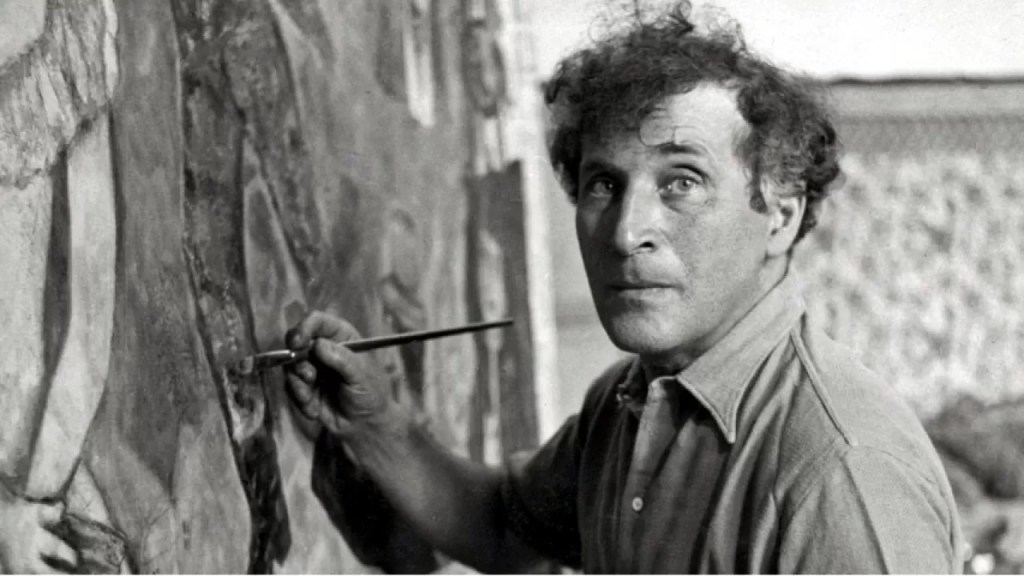 Marc Chagall che dipinge
