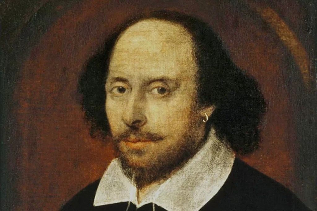William Shakespeare con orecchino d'oro