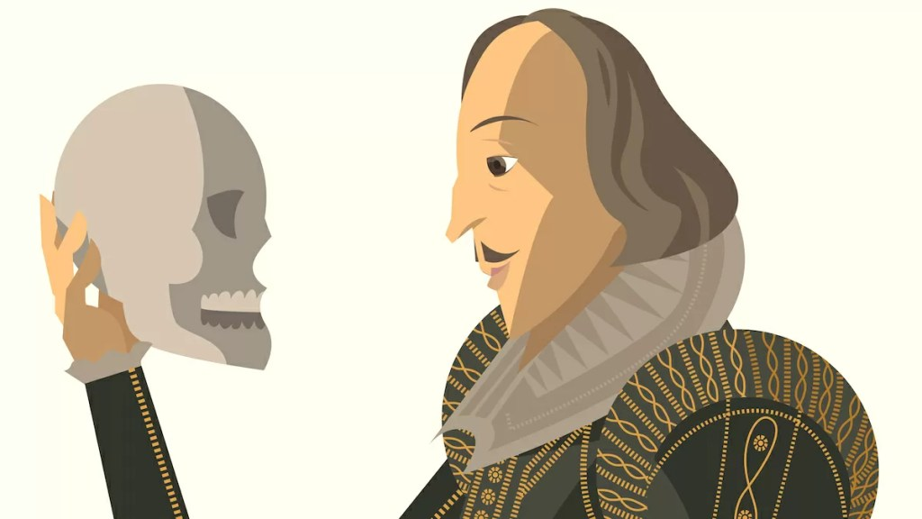 William Shakespeare e il teschio