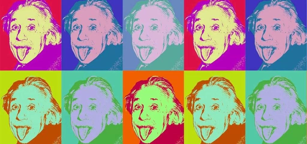 Le facce stile Warhol di Albert Einstein