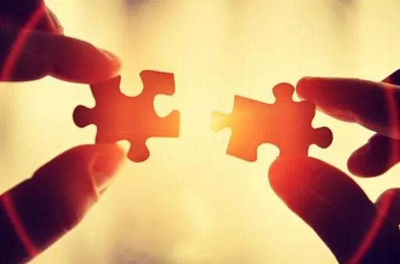 insieme come i pezzi di un puzzle