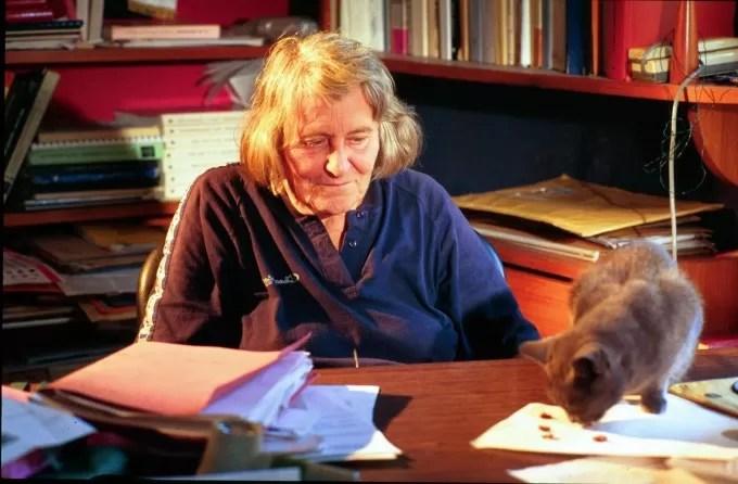 Margherita Hack e il suo gatto