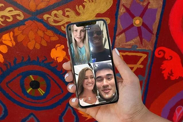 Videochiamata 4 persone