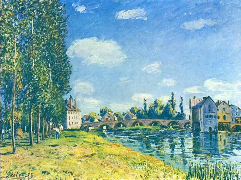 il cielo di Alfred Sisley