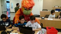 hour of code with miami heat photo