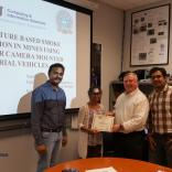 """Ms. Kushal Nagaraj worked on the research project titled """"Image Feature Based Smoke Recognition in Mines Using Monocular Camera Mounted on Aerial Vehicles"""" under the guidance of Mr.Thejas Gubbi Sadashiva, Mr.Sanjeev Kaushik Ramani, and Dr.S.S.Iyengar"""