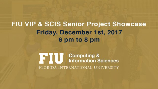 Fall 2017-Senior Project Showcase Flyer