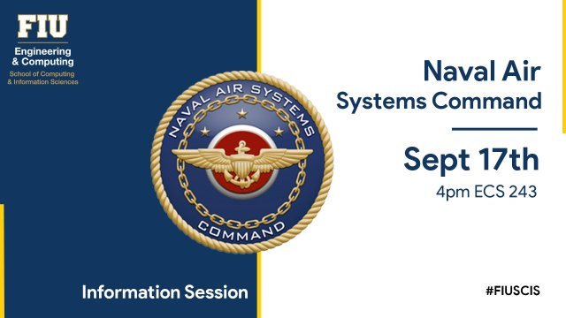 Flyer of Naval Air Systems Command info session
