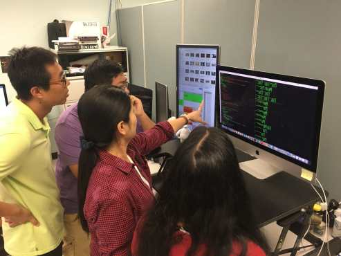 Photo of students from Distributed Multimedia Information Systems (DMIS) Laboratory