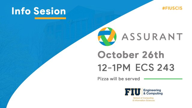 Flyer of Assurant Info Session