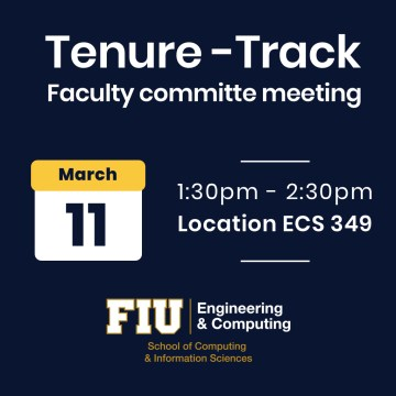 Flyer of Tenure-track Faculty Recruitment Meetings