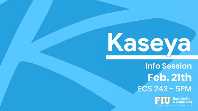 Flyer for Kaseya info session