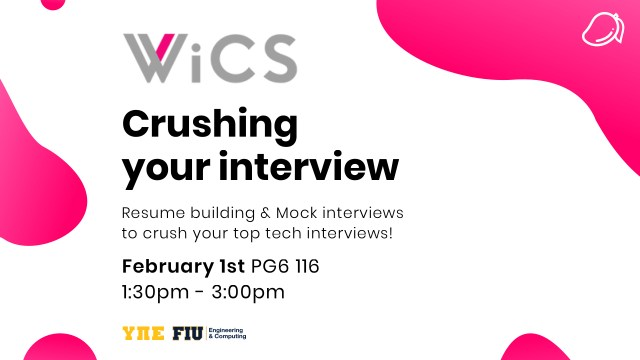 Flyer of Wics interview event