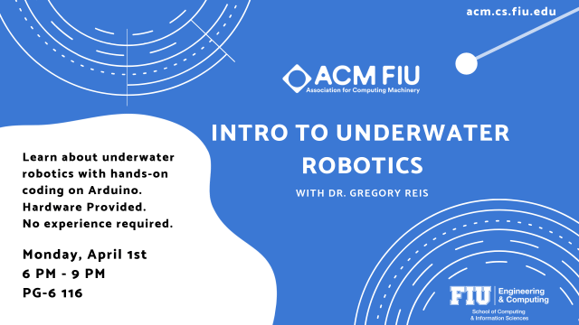 Flyer of ACM Underwater Robotics Workshop