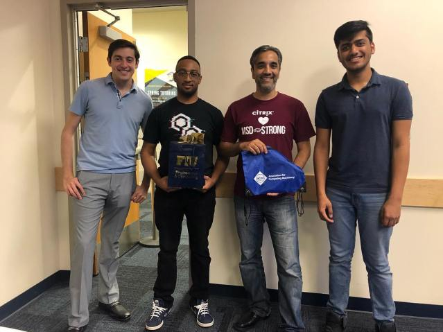 FIU's ACM Student Chapter has been recognized for Outstanding Chapter Activities
